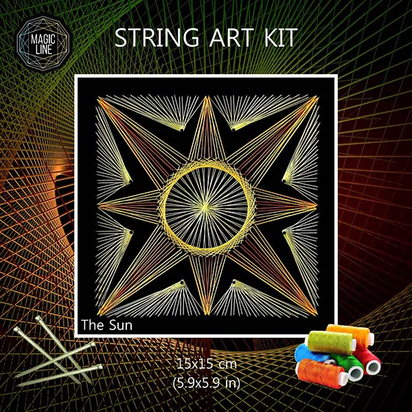 Mandala String Art Kit