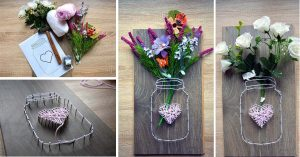 Mason Jar String Art Step by Step
