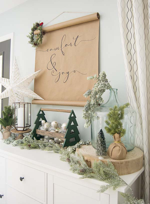 Natural Rustic Winter Decoration #rustic #winterdecor #homedecor #decorhomeideas