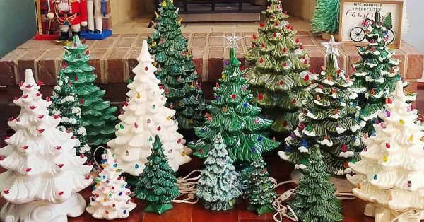 Old school ceramic Christmas trees