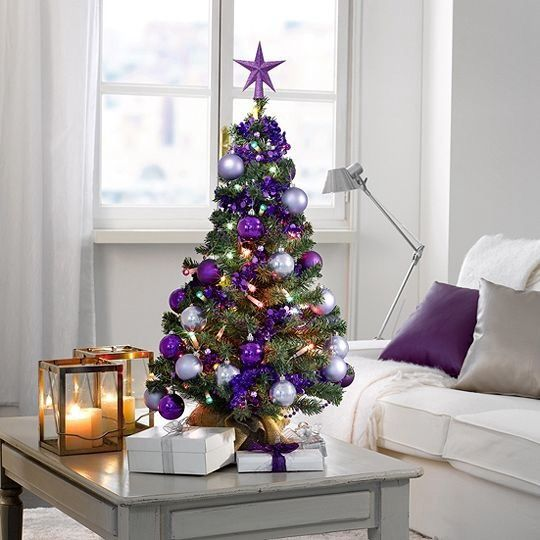 Purple Table Top Christmas Tree