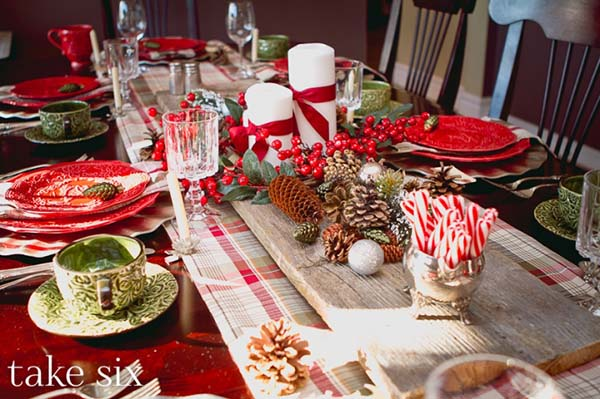 Red Christmas Table Decoration