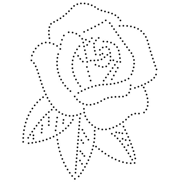 Rose String Art Pattern