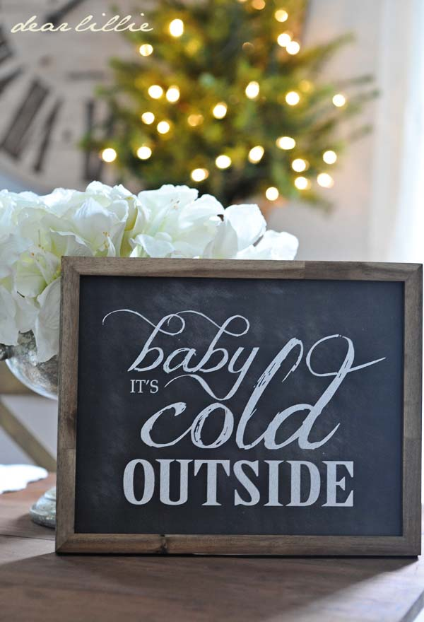 Rustic Decor Sign #rustic #winterdecor #homedecor #decorhomeideas