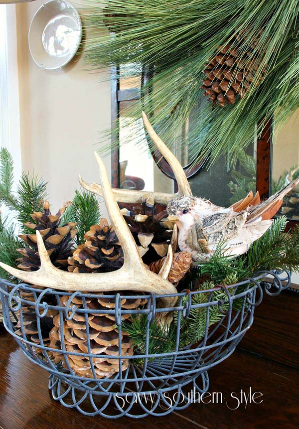 Rustic Winter Centerpieces Decor #rustic #winterdecor #homedecor #decorhomeideas