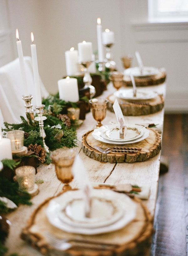 Rustic Winter Table Setting #rustic #winterdecor #homedecor #decorhomeideas