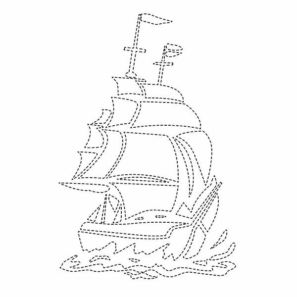 Ship String Art Pattern