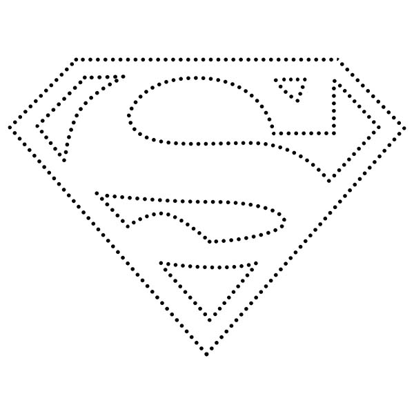 Superman String Art Pattern