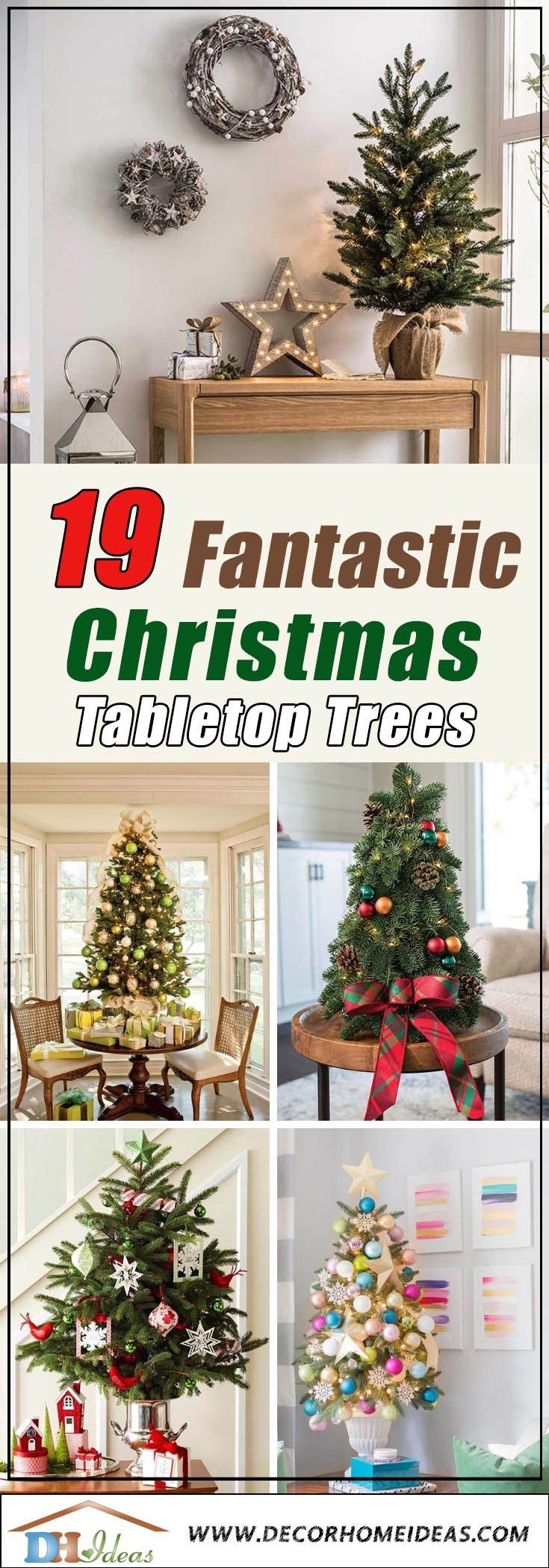 Table Top Christmas Trees #Christmas #tabletop #Christmastree #Christmasdecor #decorhomeideas