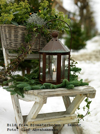 Winter Decor With Lanterns #rustic #winterdecor #homedecor #decorhomeideas