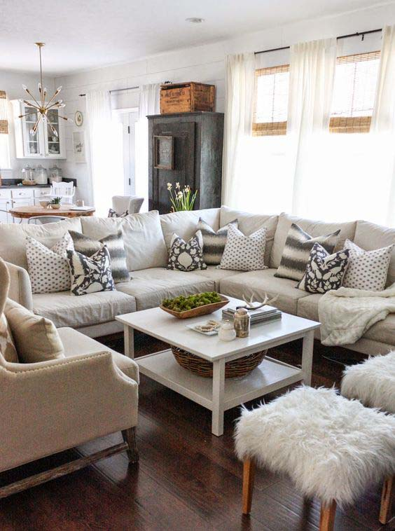 Winter Decoration Ideas Living Room #rustic #winterdecor #homedecor #decorhomeideas