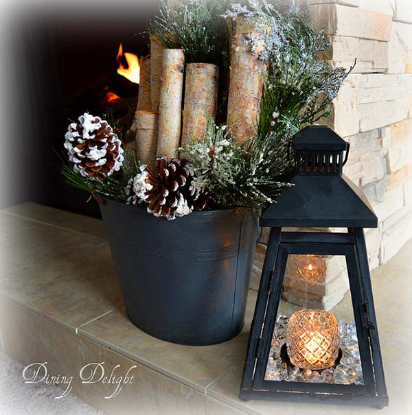 Winter Decoration #rustic #winterdecor #homedecor #decorhomeideas