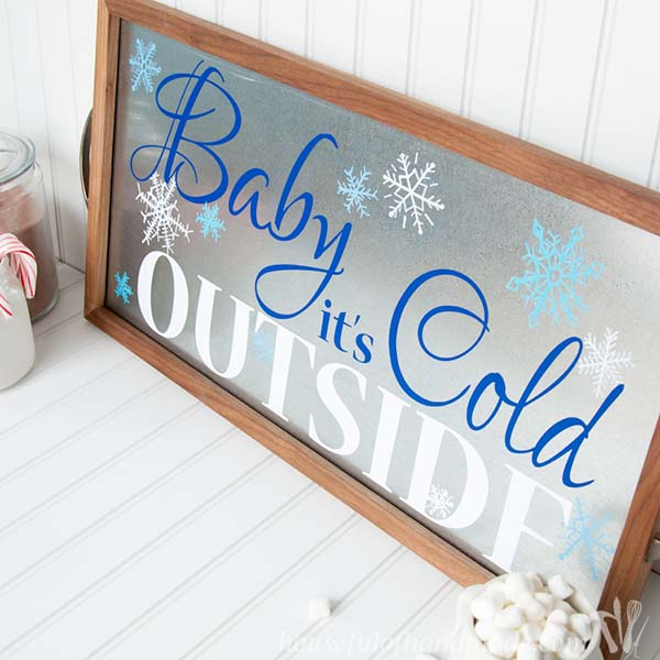 Baby It's Cold Outside Sign #winterdecor #homdecor #winter #decorhomeideas