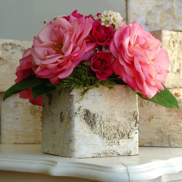 Birch Box Centerpiece #rustic #centerpieces #woodenbox #homedecor #decorhomeideas