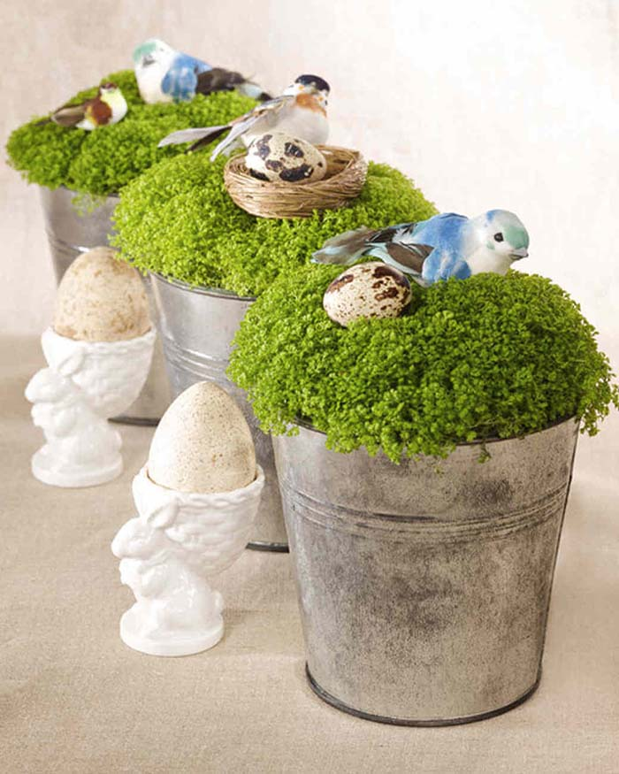 Birds and Nests Centerpiece