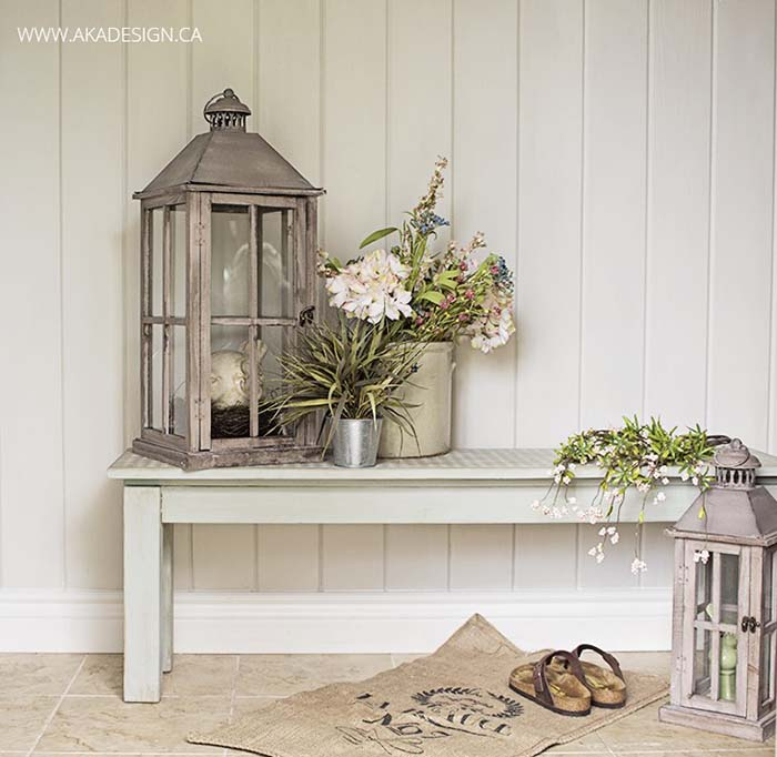 Chalk Paint DIY Front Porch #farmhouse #rustic #porch #decor #decorhomeideas