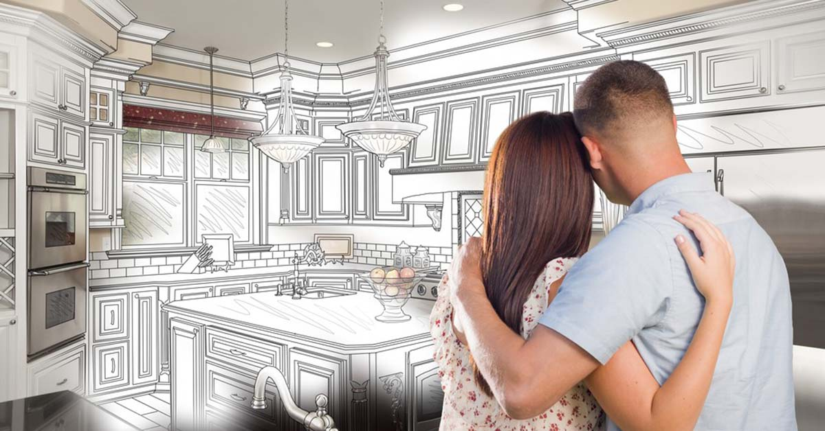 Couple dreaming of their kitchen remodel ideas
