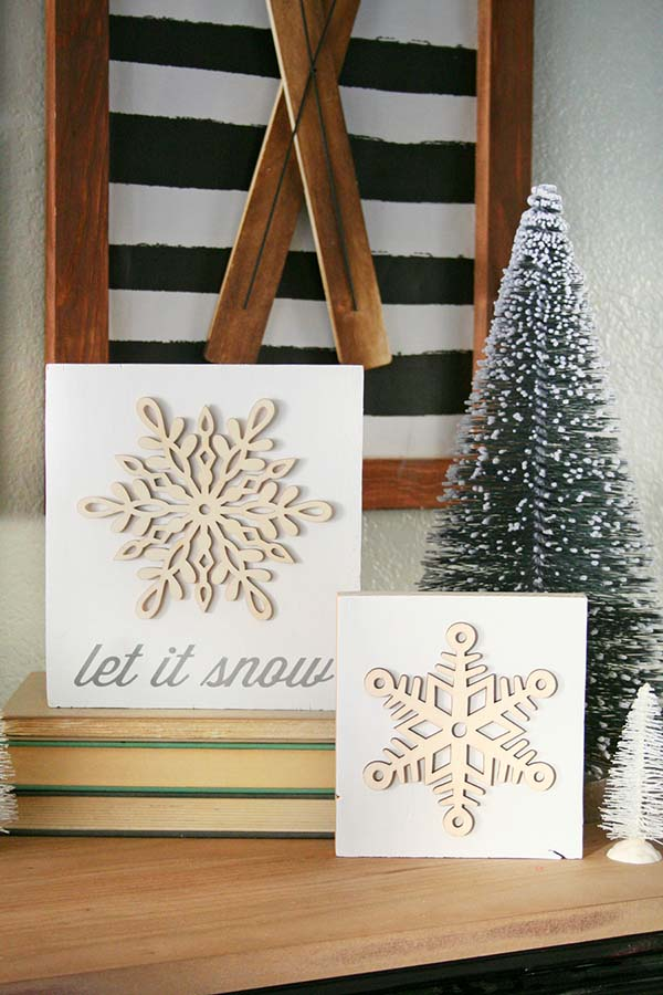 DIY Snowflake Winter Decor #winterdecor #homdecor #winter #decorhomeideas