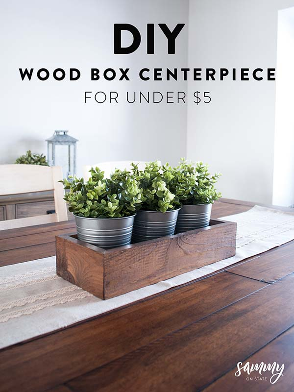 DIY Wooden Box Centerpiece #rustic #centerpieces #woodenbox #homedecor #decorhomeideas