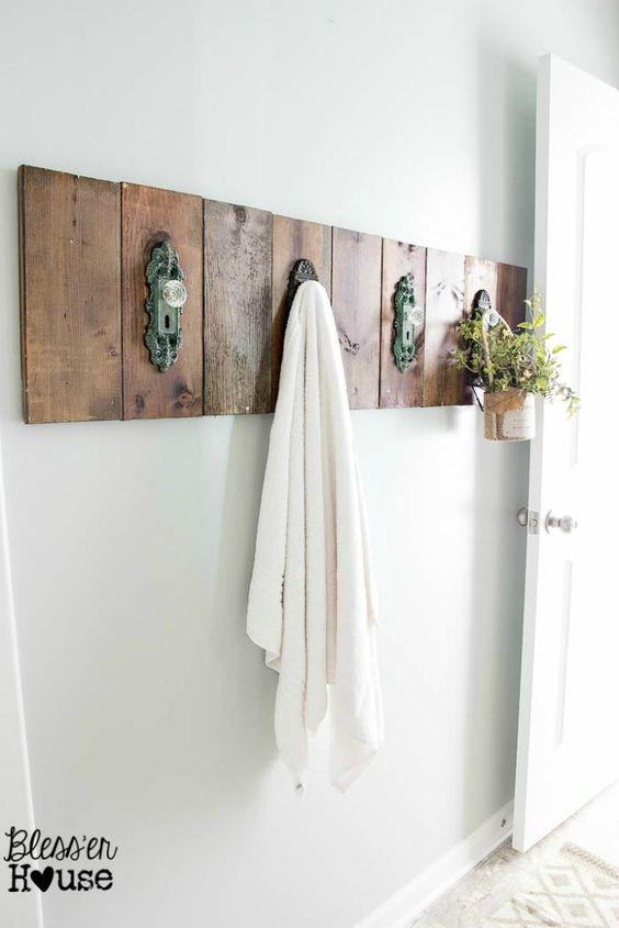 Door Knob Towel Rack