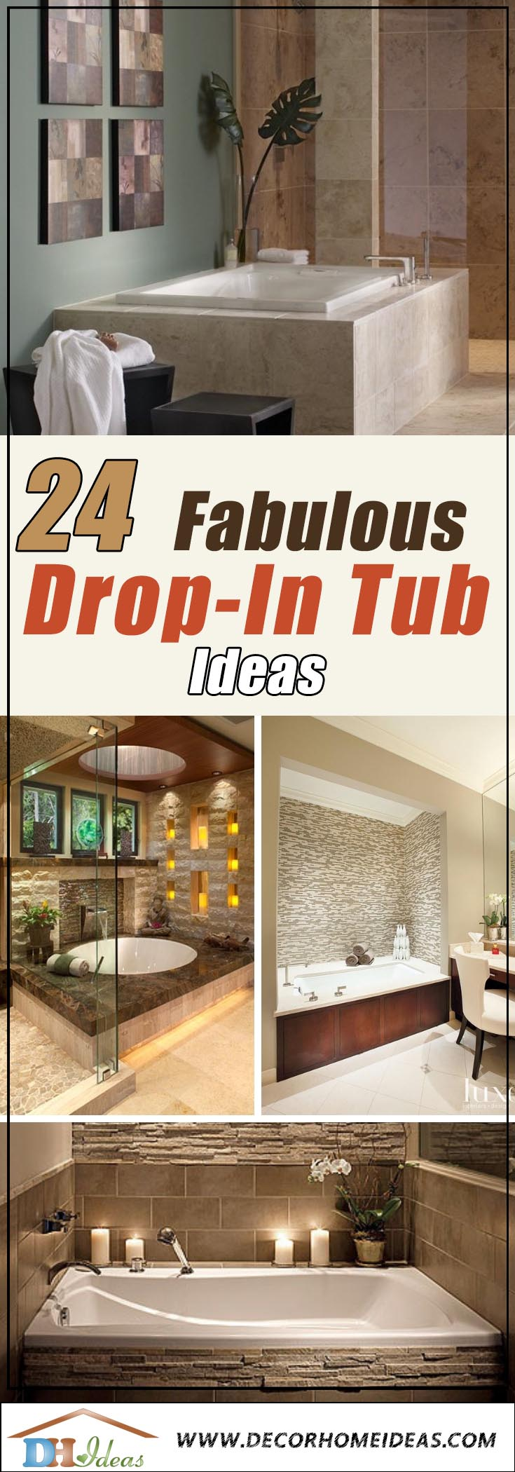 Drop-In Tub Ideas #dropintub #bathtub #tub #ideas #decorhomeideas