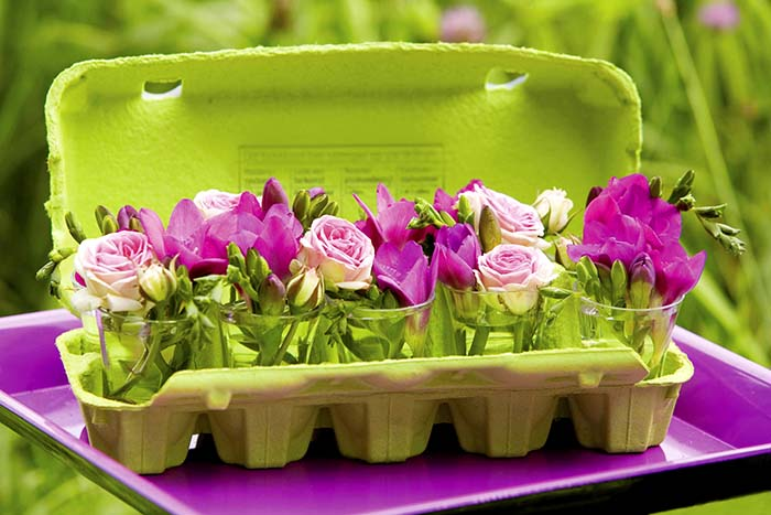 Egg Carton Spring Centerpiece