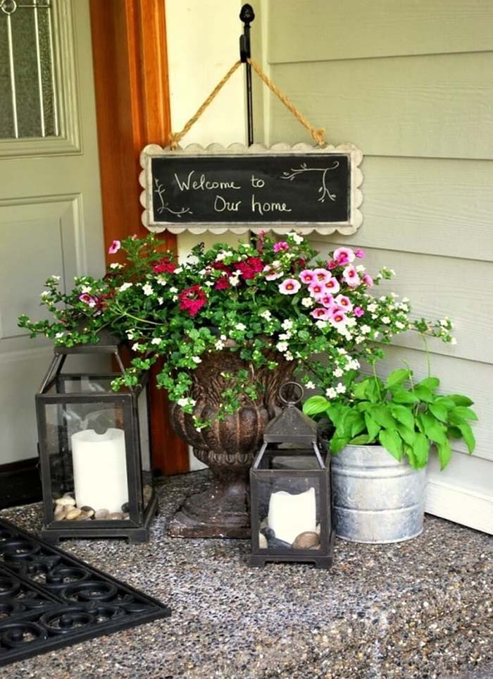 Farmhouse Front Porch Spring Decor #farmhouse #rustic #porch #decor #decorhomeideas