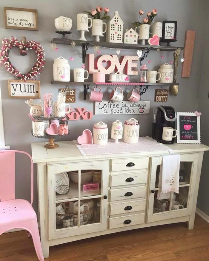 Farmhouse Valentines Day Decor #valentinescraft #decor #love #crafts #diy #decorhomeideas