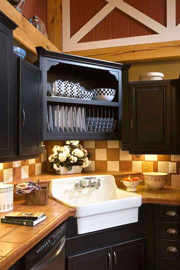 Faux Corner Kitchen Sink #cornersink #kitchen #sink #decorhomeideas