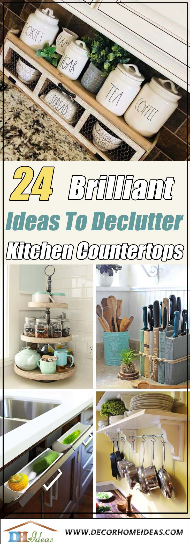 Kitchen Countertop Declutter Ideas