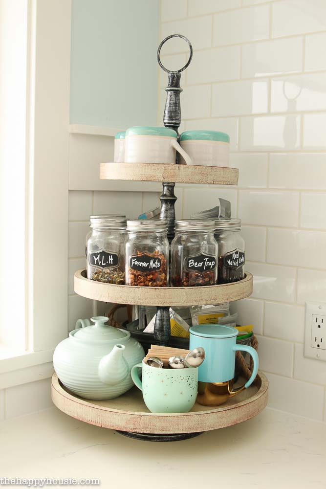 Lazy Susan Kitchen Countertop Organization
