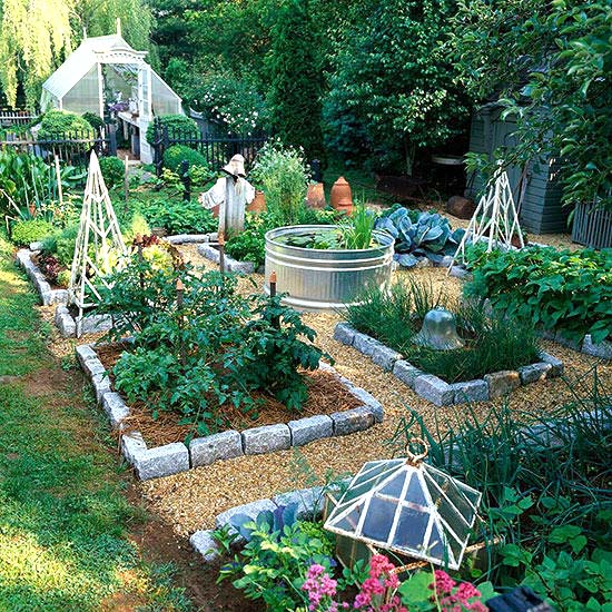 Raised Garden From CobbleStones