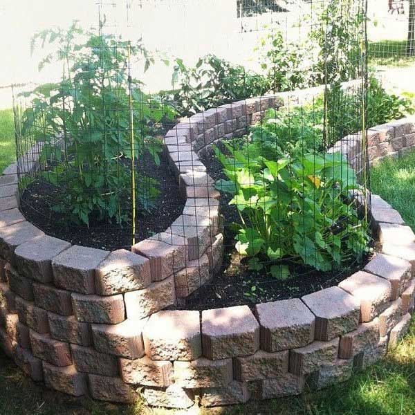 Raised Garden With Cinder Blocks