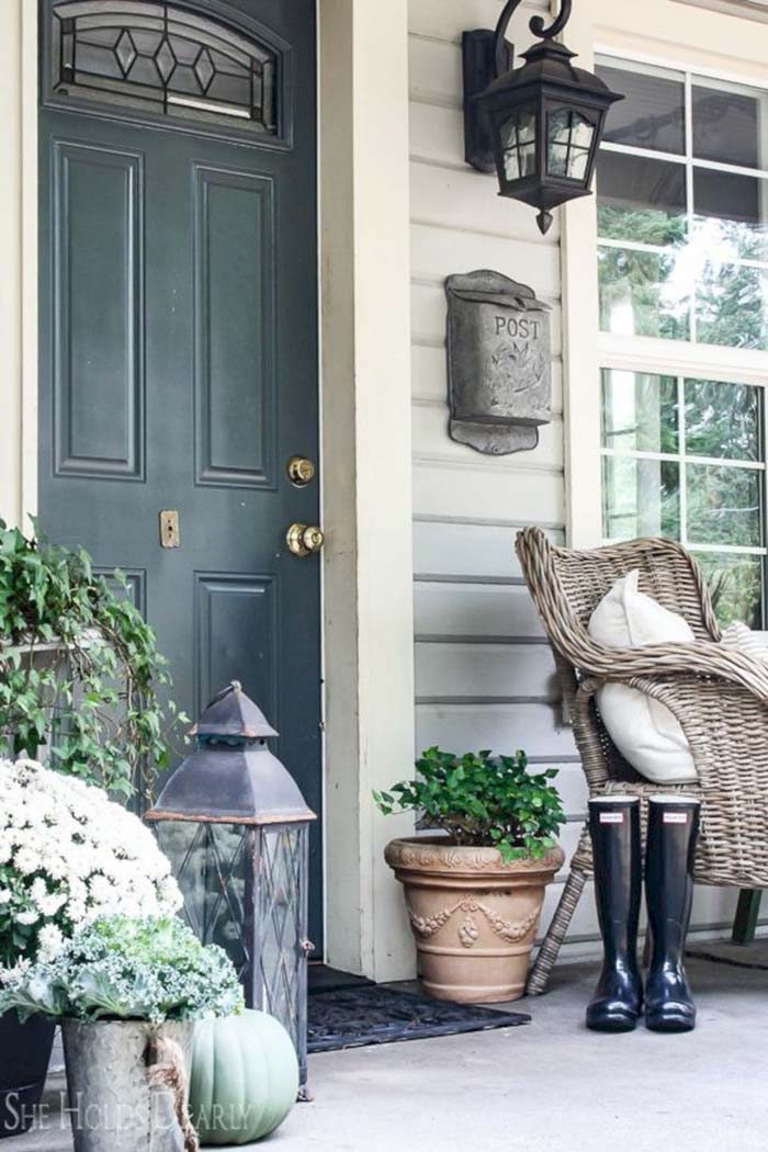 Rustic Farmhouse Front Porch Decor #farmhouse #rustic #porch #decor #decorhomeideas