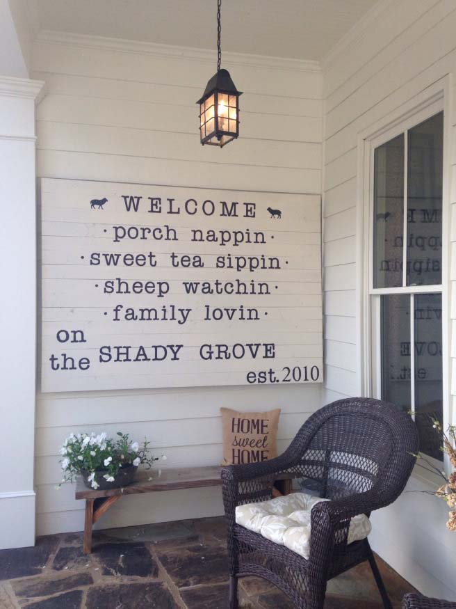 Rustic Sign Farmhouse Decor #farmhouse #rustic #porch #decor #decorhomeideas