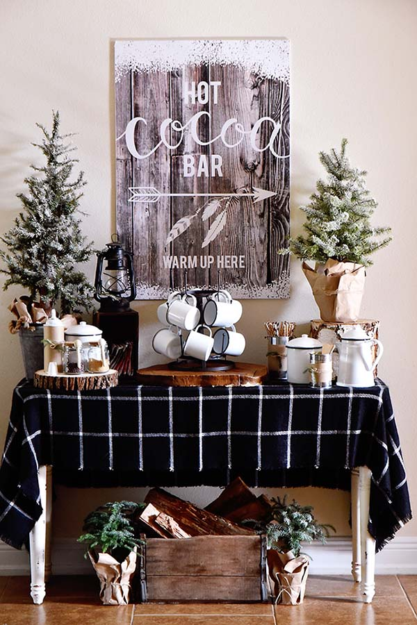 Rustic Sign Winter Decor #winterdecor #homdecor #winter #decorhomeideas