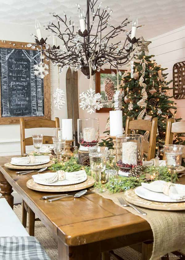 Rustic Winter Decor #winterdecor #homdecor #winter #decorhomeideas