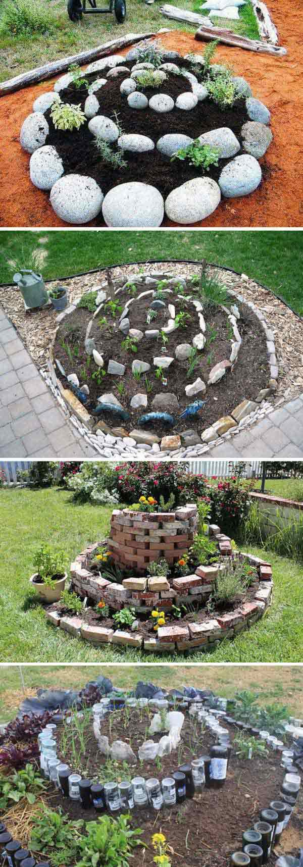 Spiral Layout Vegetable Garden