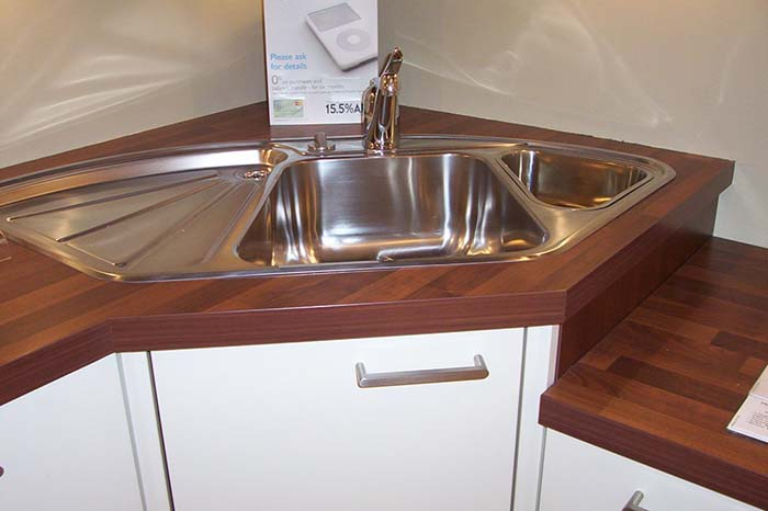 Stainless Steel Kitchen Corner Sink Standard #cornersink #kitchen #sink #decorhomeideas
