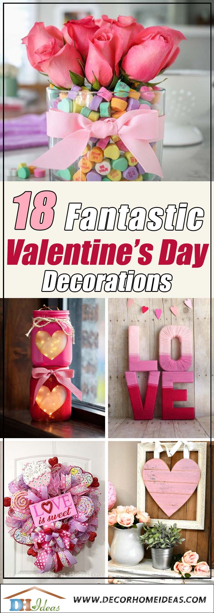 Valentine's Day Decorations #valentinescraft #decor #love #crafts #diy #decorhomeideas