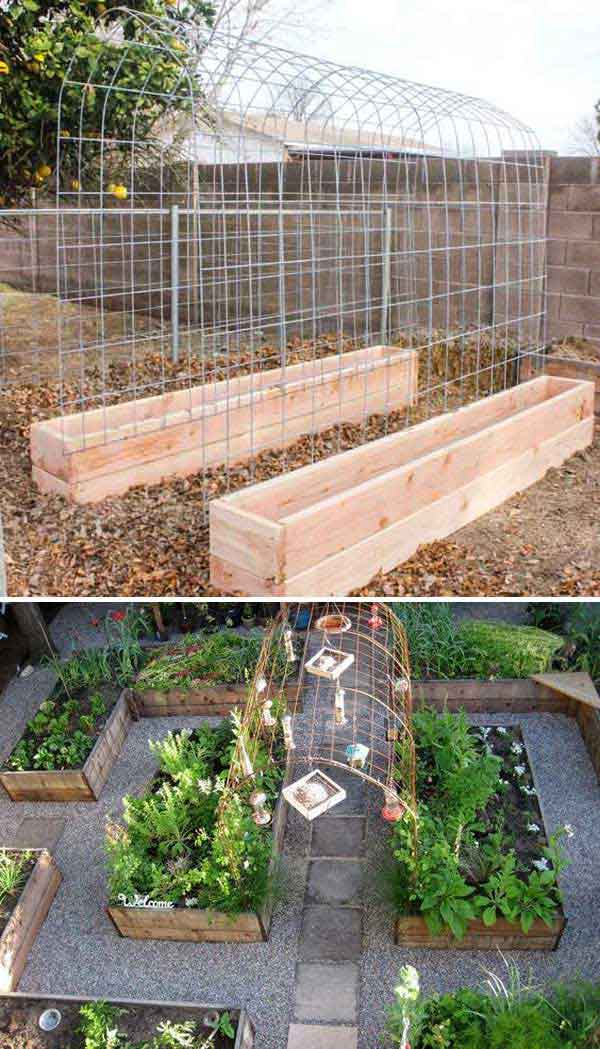 Vegetable Garden Trellis and Raised Box
