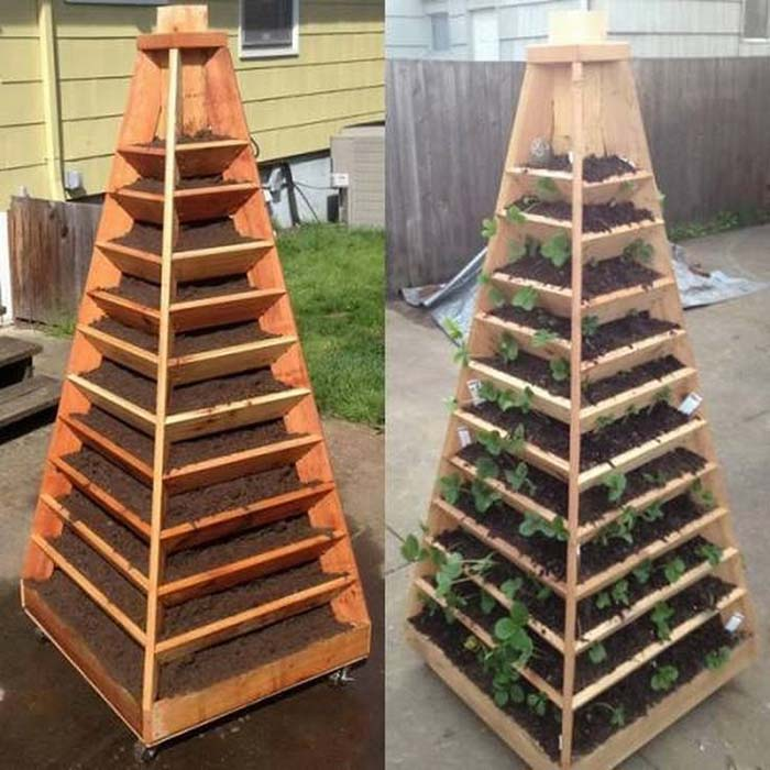 Vertical Pyramid Vegetable Garden