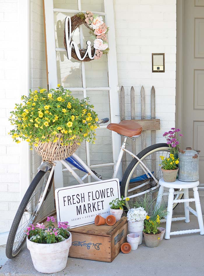 Vintage Summer Porch Decor #farmhouse #rustic #porch #decor #decorhomeideas
