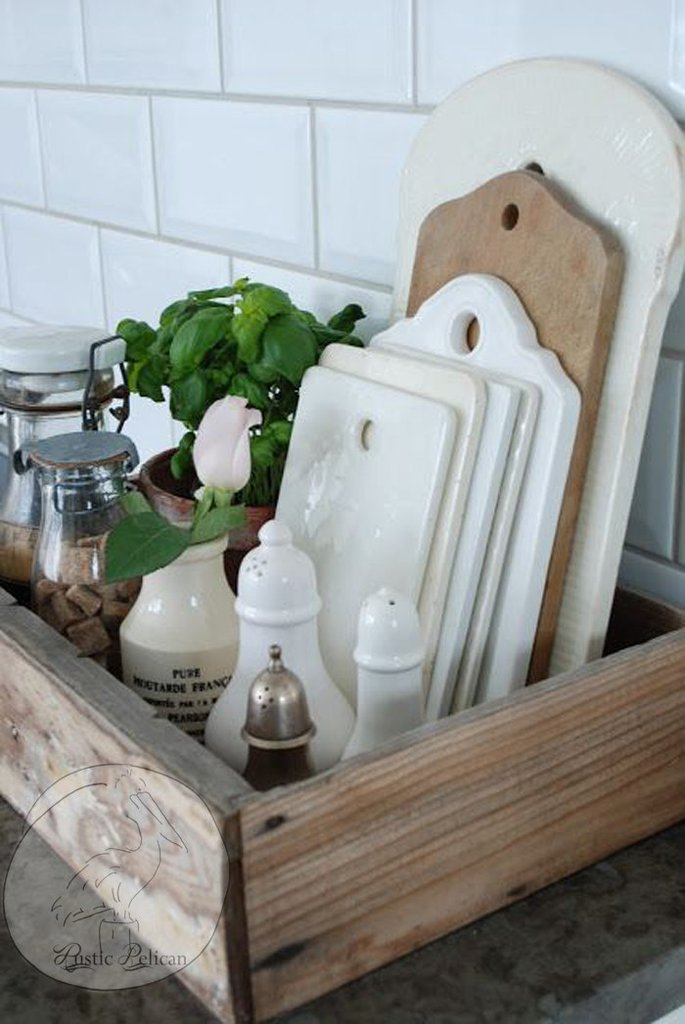 Wood Tray Storage