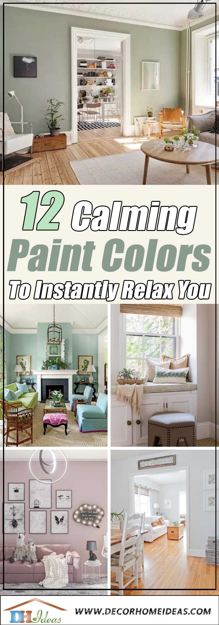 15 Calming Paint Colors That Will Instantly Relax You #paintcolor #relax #homedecor #calming color #decorhomeideas