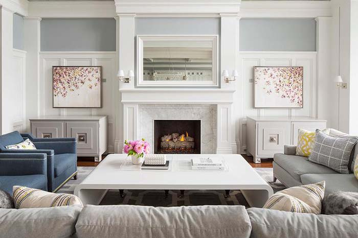 Amazing Living Room With Wainscoting