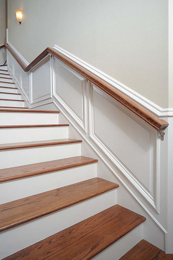 Amazing Wainscoting For Stairway