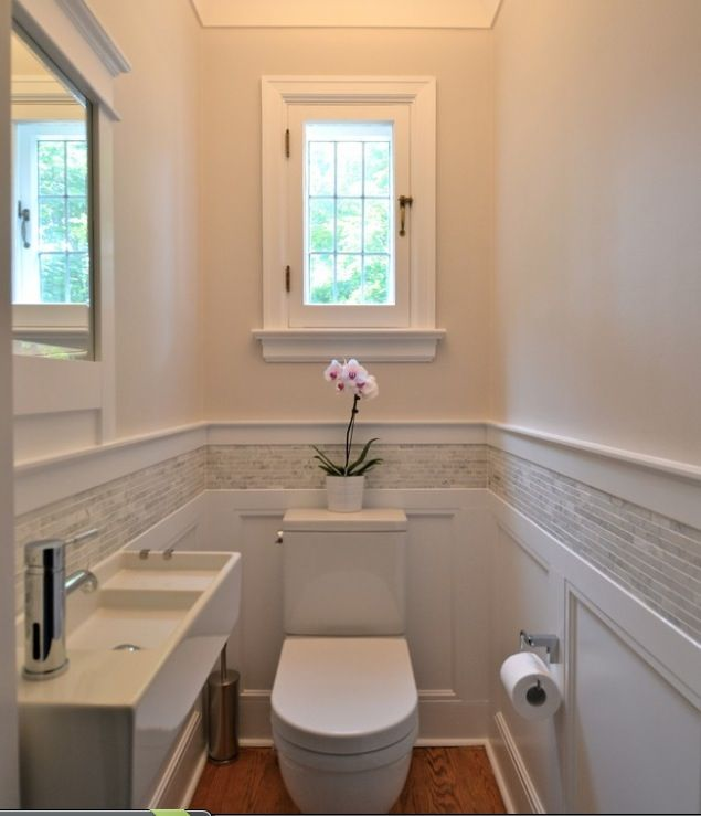 Bathroom Wainscoting With Tiles Decoration