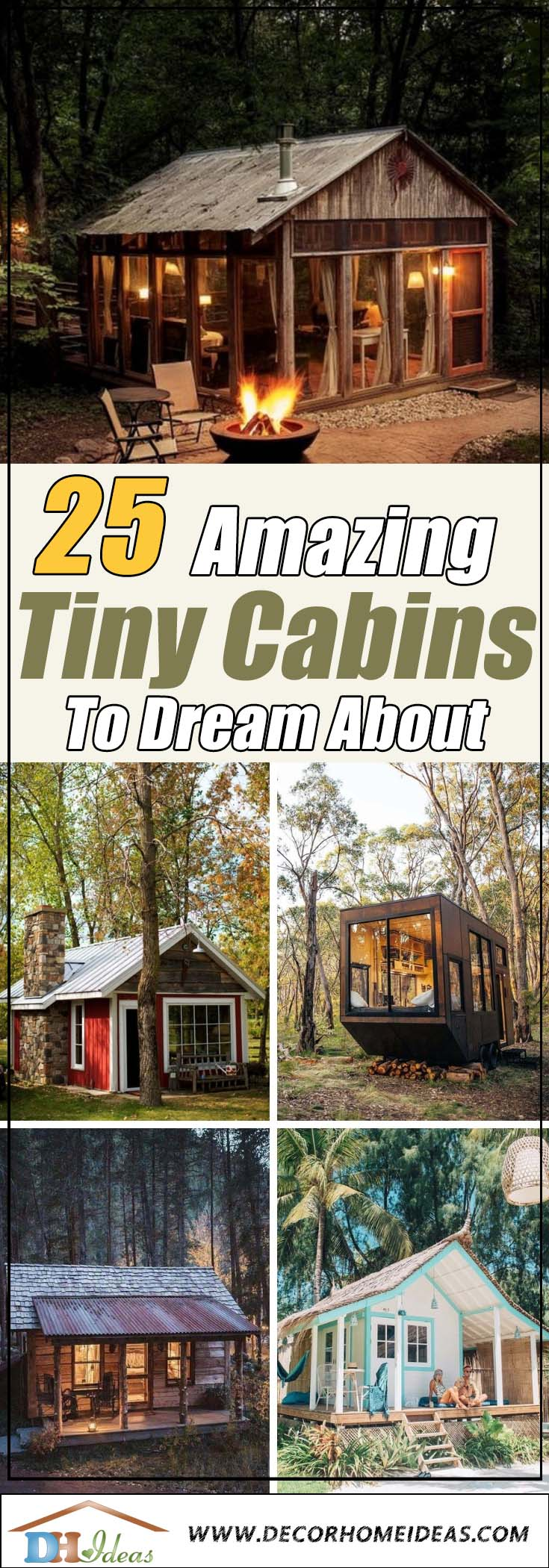 Best Tiny Cabins. Tiny houses and log houses. #cabin #loghouse #tinyhouse  #decorhomeideas