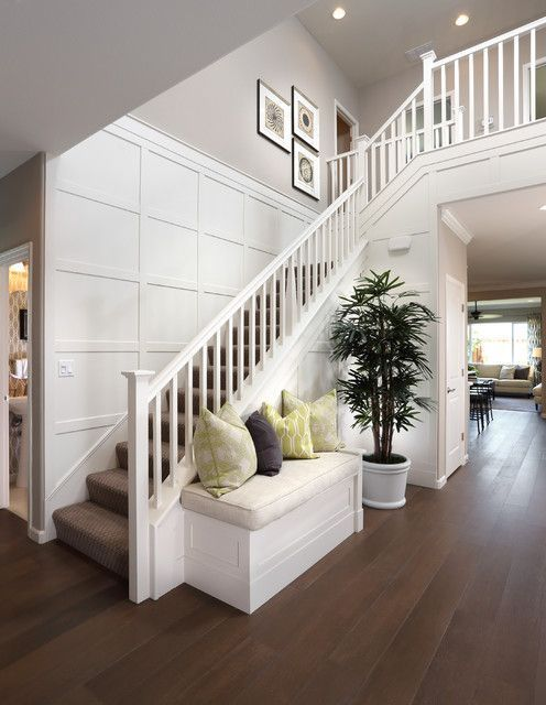 Big Staircase With Wainscoting